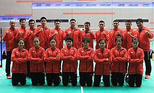 Tim Indonesia di Asia Junior Championships 2018 (Foto: PBSI)