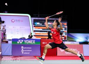 Tunggal putra Indonesia, Anthony Sinisuka Ginting harus terhenti di babak semifinal. (Copyright: Badmintonphoto | Courtesy of BWF)
