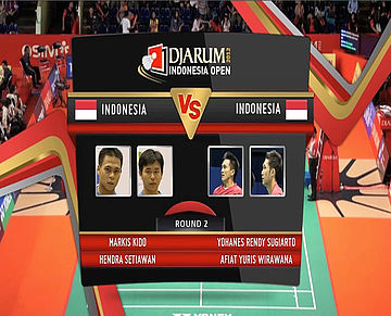 Markis kido/Hendra Setiawan (Indonesia) VS Yohanes Rendy Sugiarto/Afiat Yuris Wirawana Mens Double Round 2 Djarum Indonesia Super Series Priemer 2012