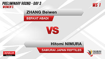 PRELIMINARY ROUNDS | Women's Teams | BERKAT ABADI BANJARMASIN VS SAMURAI JAPAN REPTILES