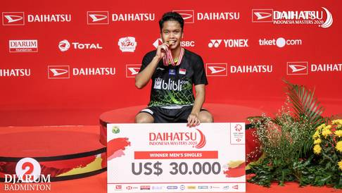 Podium Juara Tunggal Putra Daihatsu Indonesia Masters 2020, Anthony Sinisuka GINTING (Indonesia)