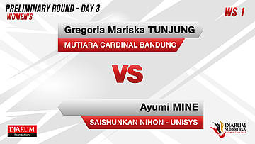 PRELIMINARY ROUNDS | Women's Teams | MUTIARA CARDINAL BANDUNG VS SAISHUNKAN NIHON-UNISYS (JAPAN)
