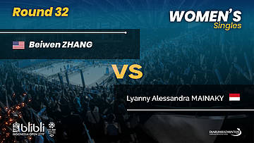 Round 32 | WS | ZHANG (USA) vs MAINAKY (INA) | Blibli Indonesia Open 2019
