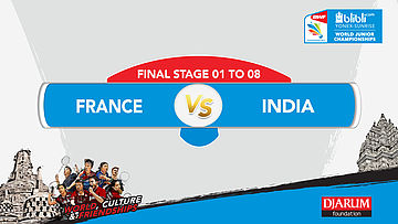 BLIBLI.COM WJC 2017 | FINAL STAGE 01 To 08 | FRANCE vs INDIA | MS