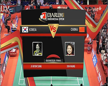 JI Hyung Sung (Korea) VS Xin Wang (China) Women Single Quarter Final Djarum Indonesia Open Super Series Priemer 20122012