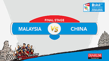 World Junior Championships 2017 | FINAL | MALAYSIA vs CHINA | MD
