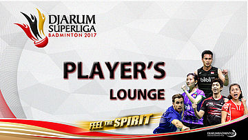 Hardianto at Player's Lounge Djarum Superliga Badminton 2017