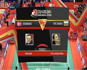 Tine Baun (Denmark) VS Petya Nedelcheva (Bulgaria) Women Single Round 2 Djarum Indonesia Super Series Priemer 2012