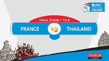 BLIBLI.COM WJC 2017 | FINAL STAGE 1 To 8 | FRANCE vs THAILAND | MS