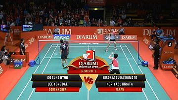 Ko Sung H/ Lee Yong Dae (SOUTH KOREA) VS Hirokatsu H/ Noriyasu H. (JAPAN) Djarum Indonesia Open 2013