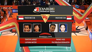 Tontowi Ahmad/ Liliyana Natsir (Indonesia) VS Markis Kido/ Pia Zebadiah Bernadeth Quarter Final Mixed Double DJARUM Indonesia Open Super Series Premier 2012