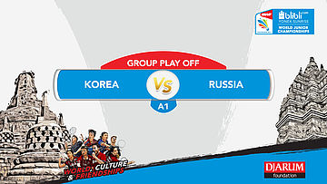BLIBLI.COM WJC 2017 | GROUP PLAY OFF - A1 | KOREA vs RUSSIA | MS