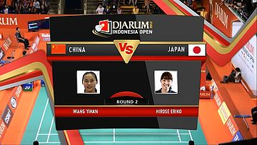 Wang Yihan (China) VS Eriko Hirose (Japan) Round 2 Womens Single DJARUM Indonesia Open Super Series Premier 2012