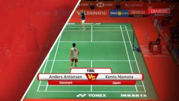 Anders Antonsen (Denmark) VS Kento Momota (Japan)