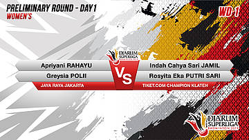 PRELIMINARY ROUNDS | Women's Teams | JAYA RAYA JAKARTA VS TIKET.COM CHAMPION KLATEN