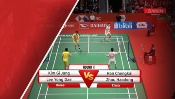 Kim Gi Jung/Lee Yong Dae (Korea) VS Han Chengkai/Zhou Haodong (China)