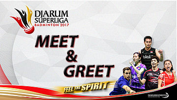 Meet and Greet with Jonatan Christie, Greysia Polii, and Tommy Sugiarto