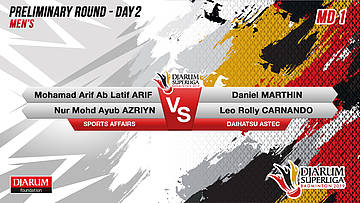 MD1 | LATIP/AYUB (SPORTS AFFAIRS) VS DANIEL/LEO (DAIHATSU ASTEC)