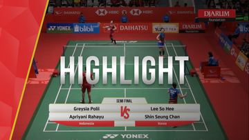 Greysia Polii/Apriani Rahayu (Indonesia) VS Lee So Hee/Shin Seung Chan (Korea)
