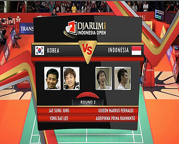 Jae Sun Jung/Yong Dae Lee (Korea) VS Gideo Markus Fernaldi/Agripinna Prima Rahmanto (Indonesia) Mens Double Round 2 Djarum Indonesia Super Series Priemer 2012