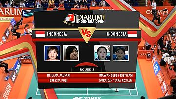 Meiliana Jauhari/Greysia Polii (Indonesia) VS Imawan Gebby R/ Nuraidah Tiara R (Indonesia) Round 2 Womens Double DJARUM Indonesia Open Super Series Premier 2012