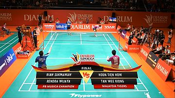 Rian Sukmawan/ Rendra Wijaya (PB MUSICA CHAMPION) VS Hoon Tien How/ Tan Wee Kiong (MALAYSIA TIGERS) DJARUM SUPERLIGA 2013