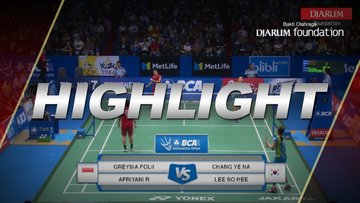 Chang Ye Na/Lee So Hee (KOR) VS Greysia Polii/Apriyani Rahayu (INA)