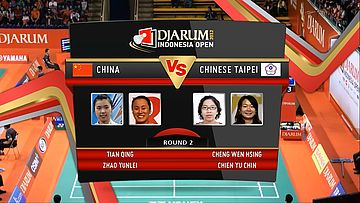 Tian Qing Zhao Yunlei (China) VS Cheng Wen Hsing Chien Yu Chin (Chinese Taipei ) Round 2 Womens Double DJARUM Indonesia Open Super Series Premier
