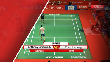 Anthony Sinisuka Ginting (Indonesia) VS Zhao Junpeng (China)