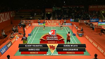 Alvent/ Markis Kido (INDONESIA) VS Rendra Wijaya/ Rian S. (INDONESIA) Djarum Indonesia Open 2013