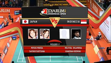 Maeda Miyuki/Suetsena Satoko (Japan) VS Melvira Oklamona/Khaeriah Rosmini (Indonesia) Round 2 Womens Double DJARUM Indonesia Open Super Series Premier 2012