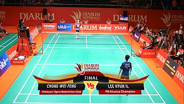 Chong Wei Feng (MALAYSIA TIGERS) VS Lee Hyun Il (PB MUSICA CHAMPION) DJARUM SUPERLIGA 2013