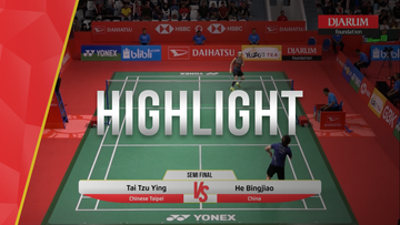 Tai Tzu Ying (Chinese Taipei) VS He Bingjiao (China)