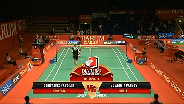 Dionysius Hayom Rumbaka (INDONESIA) VS Vladimir Ivanov (RUSIA) Djarum Indonesia Open 2013